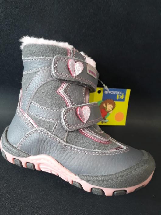 PROTETIKA, zimní dívčí obuv, Bory white