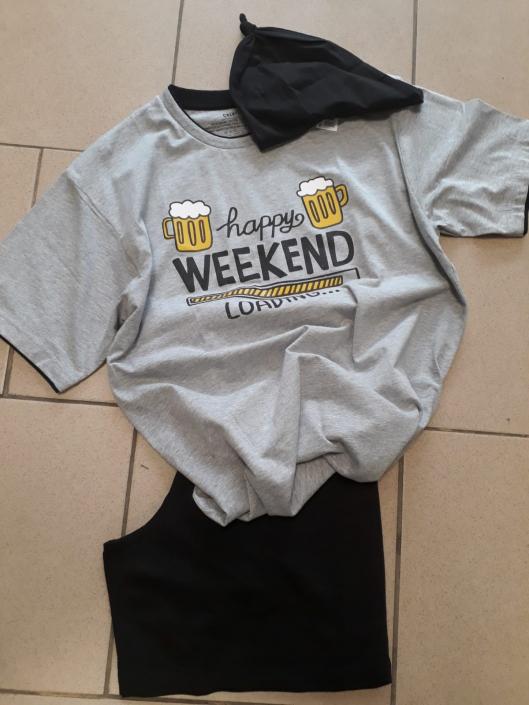 Pánské pyžamo s obrázkem piva