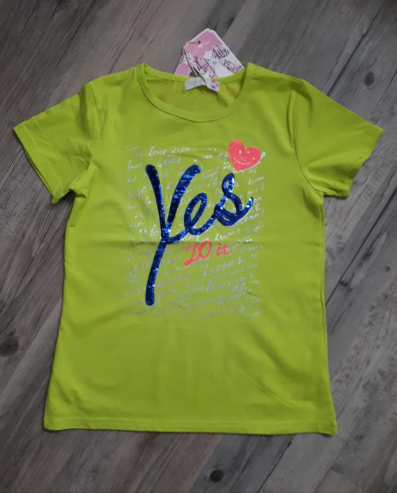 KUGO, dívčí tričko s nápisem YES DO IT